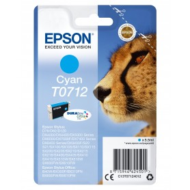 CARTUCHO DE TINTA EPSON T0712 CYAN (TIGRE)