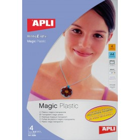 PLASTICO MAGIC TRANSPARENTE INKJET 4 HOJAS