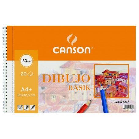 CANSON BLOC ESPIRAL MICROPERFORADO BASIK A4 20H. LISO 130G