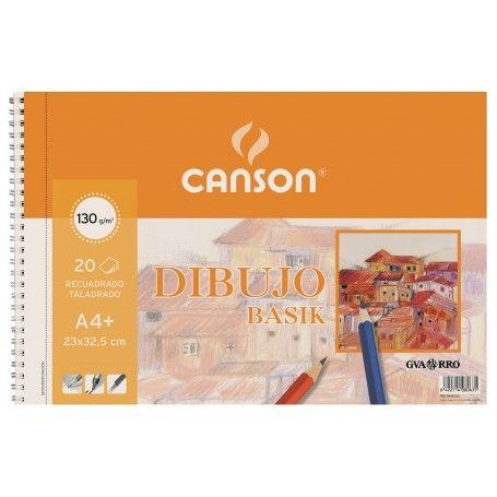 CANSON BLOC ESPIRAL MICROPERFORADO BASIK A4 20H. RECUADRO 130G