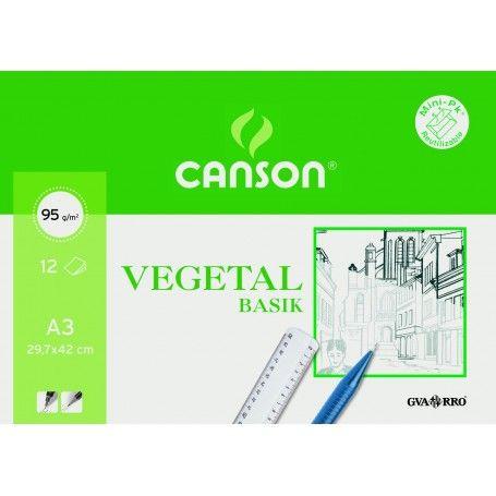 CANSON MINIPACK BASIK A3 12H. VEGETAL 95G