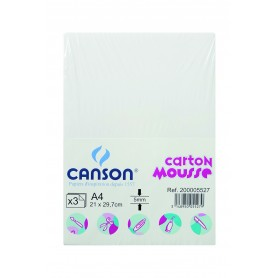 CANSON HOJA 50X70 (12) CARTON MOUSSE 10MM BLANCO