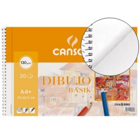 CANSON BLOC MICROPERF. A4+ 20H DIBUJO BASIK TALADRO 130G