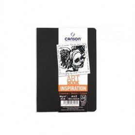 PACK 2 CUAD. ART BOOK 10,5X14,8 24H CANSON INSP. 96G NEGRO/GRIS