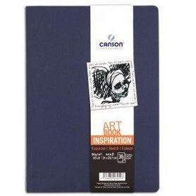 PACK 2 CUAD. ART BOOK 21X29,7 36H CANSON INSP. 96G INDIGO/LAVAN