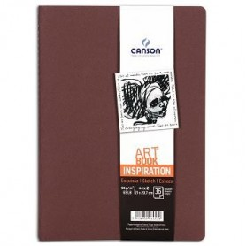 PACK 2 CUAD. ART BOOK 21X29,7 36H CANSON INSP. 96G TIERRA/ROJO
