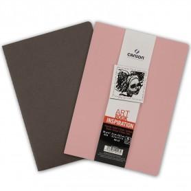 PACK 2 CUAD. ART BOOK 21X29,7 36H CANSON INSP. 96G SEPIA/ROSA