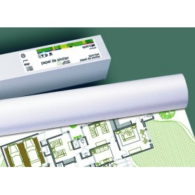 ROLLO PAPEL PLOTTER 80G 0,610X50M