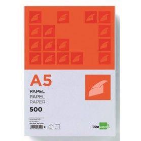 PAPEL LIDERPAPEL A5 80G/M2 PAQUETE DE 500 BLANCO