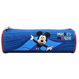 ESTUCHE REDONDO MICKEY BLUE  22x7x7