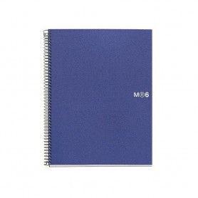 MIQUELRIUS NOTEBOOK 6 COLORES A4 150H. CLA PP AZUL