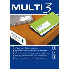 ETIQUETAS MULTI3 105X74MM 500 HOJAS