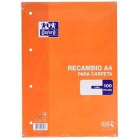 OXFORD RECAMBIO A4 100H. LISO NARANJA