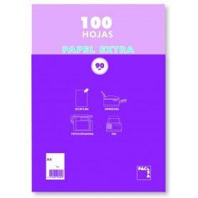 PAPEL BLANCO PAQUETE 100 HOJAS A4 80GR PACSA