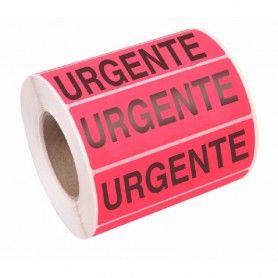 200 ETIQUETAS ADHESIVAS URGENTE