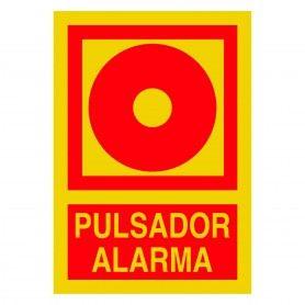 "SEÑAL FOTOLUMINISCENTE PVC 1MM ""PULSADOR ALARMA"""