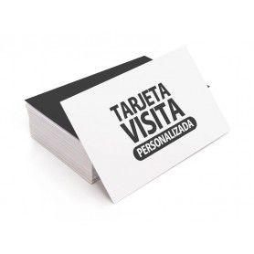 100 TARJETA VISITA 8,5x5,4 cm. 350g. 4/4 COL.
