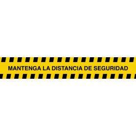 VINILO SE�ALIZACION SUELO 1000X160 - MANTENGA LA DISTANCIA DE SEGURIDAD