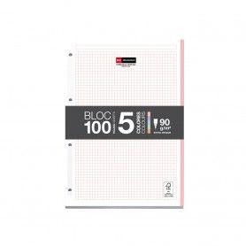 BLOC RECAMBIO 5 COL PASTEL 100H 90GR MR