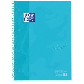 OXFORD EUROPEANBOOK1 TED A4+80H 5X5 SOFT TOUCH AZUL P
