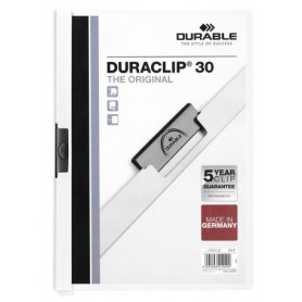 DURABLE CARPETA CON PINZA DURACLIP 30H. BLANCO.